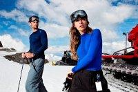 narciarze, zima, stok
