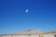plaża, sport, kitesurfing